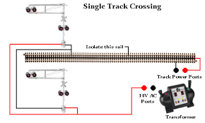 rr train track wiring railroad crossing signal single track rr train track wiring railroad crossing signal single track