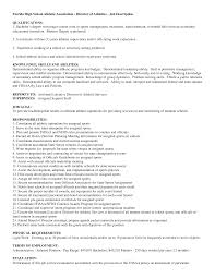 athletic resume resume format pdf athletic resume designing your sports resume using college connect high school athletic director resumes