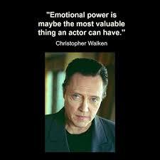 Movie Actor Quote - Christopher Walken - Film Actor Quote ...