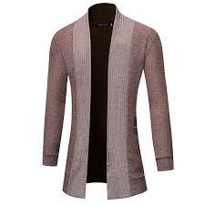 IZHH Stylish Men Cardigan Jacket Slim Long Sleeve ... - Amazon.com