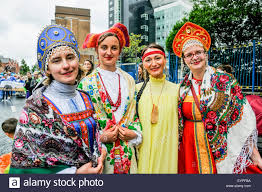 russia national costume traditional stock photos russia national 2 aug 2015 women wear russian traditional colourful costumes during