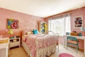 bedroom furniture cozy bedroom interior in pink color with white iron bed bedroom interior furniture