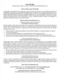 more special education teacher resume templatesspecial education teacher resume sample   page