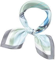 Corciova 21 Inches <b>100</b>% <b>Real Silk</b> Neck Scarf Small Square ...
