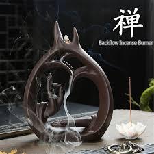 2019 ZEN Buddhism <b>Backflow Incense</b> Burner <b>Lotus Flower</b> Bottle ...