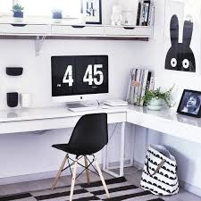 black white home office with ikea bestaburs desk home office black desk white home office