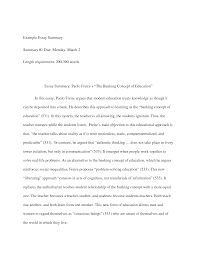example of a summary essay template example of a summary essay