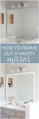 update bathroom mirror: hey there friends ive got a fun and super easy tutorial for you today how to frame a bathroom mirror an easy bathroom update