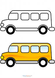 Small Picture Match Up Coloring Pages School Bus School buses School and Craft