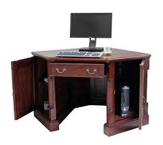 awesome mahogany corner desks designed with drawers and cabinet with natural brown paint color awesome corner office desk remarkable