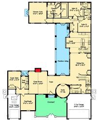 Spanish Courtyard Home Plan   MJ   st Floor Master Suite    Floor Plan