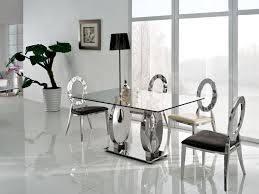 modern glass top dining table  dining room modern glass dining room table sets what causes scratches