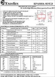 EPA018A-SOT23 datasheet - <b>DC</b>-6 Ghz, <b>6</b>-<b>12V High</b> Efficiency ...