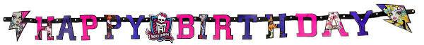 Веселая затея <b>Гирлянда</b>-<b>буквы Happy Birthday</b> Monster High ...