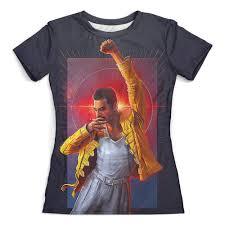 """Футболка с полной запечаткой (женская) """"<b>Freddie Mercury</b> ..."""