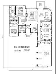 Single Story House Design Tuscan House Floor Plans and Bedroom SF Bedroom Single Story Home Plan Bath Basement Garage Car Chicago Peoria