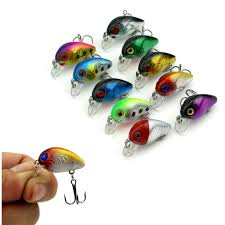 Topwater <b>Crankbait</b> Fishing <b>Lure Mini</b> Fat Minnow <b>10Pcs Small</b> hard ...