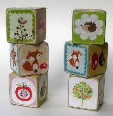 Woodland Creatures <b>Wood Block Toy</b> or Decor | Wood blocks, Wood ...
