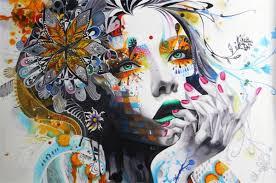 Framed, Urban Princess Portrait Art ,Huge <b>Pure Handpainted Wall</b> ...