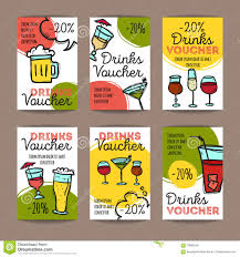night club colorful flyer templates vector stock vector image vector set of discount coupons for beverages colorful doodle style alcohol drinks voucher templates