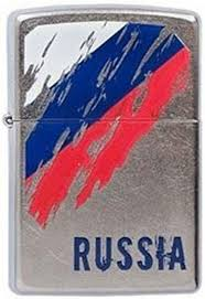 "<b>Зажигалка Zippo</b> ""<b>Russia Flag</b>"", цвет: серебристый, 3,6 х 1,2 х 5,6 ..."