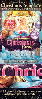 christmas party flyer template by yaniv k graphicriver christmas party flyer template clubs parties events