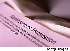 an essay lessons from the recession learned the hard way   aol  notice of termination   pink slip