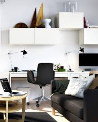 view in gallery small home office design ideas decor with black chair and white desk black desk white home office