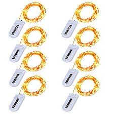 Kohree 8 Pack Led <b>Fairy String Lights</b>, 7.2ft 20 LED Battery ...