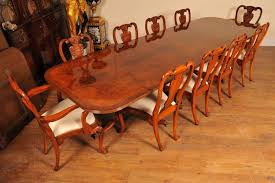 dining table that seats 10:  regency walnut dining table set queen anne chairs tables suite dining table seats