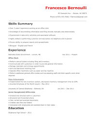 how to make a great office clerk resume raw resume office clerk resume