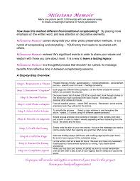 milestone memoir handout and examples stepping stones blog handout milestone memoir