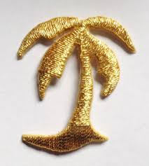 Iron On Patch Applique Palm Tree Gold by nella0626 on Etsy | Patch ...