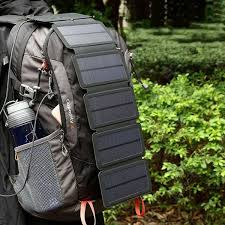 <b>Solar Charging Panel Removable</b> Folding Mobile Phone Charger