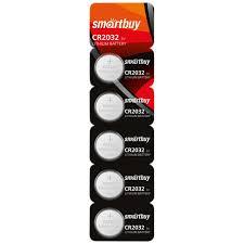<b>Батарейка SmartBuy CR2032</b> литиевая, BC5 купить оптом