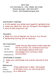 skills to put on a resume for bartender  resume resume server exle featured resumes job restaurant skills exles windows