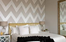 room elegant wallpaper bedroom: view in gallery elegant bedroom decor chevron strips view in gallery