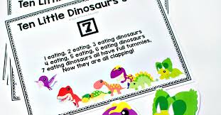 Gross Motor 10 Little <b>Dinosaurs</b> Song with FREE Printable