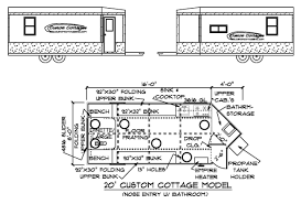 Types fish house blueprintsFloor plan Custom cottages inc mobile shelter design for ice fishing  Ice castle fish house