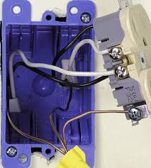 code bathroom wiring: if the box is plastic connect the ground wire to the receptacle only for a middle of run receptacle shown splice the ground wires together and connect