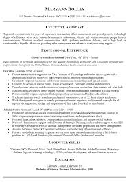 resume objective executive assistant template executive assistant resume objectives