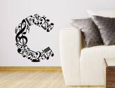 decor items nice picture items similar to wall decals personalized music letter decal vinyl sti