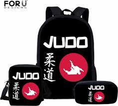 <b>FORUDESIGNS</b> Cool Martial Arts Judo Printed School Bags for Kids ...