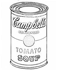 Small Picture Art Lesson Andy Warhol coloring page pop art Pinterest Art