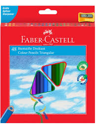 <b>Карандаши цветные</b> 48цв., трехгран., с точилкой Faber-Castell ...