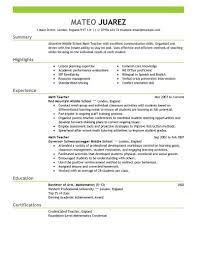 sample job resume examples volumetrics co sample resumes for teachers resume format sample resume format for teachers resumes samples of resumes for teachers sample