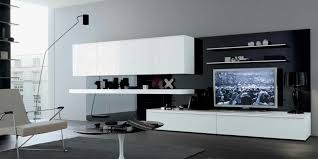 black white grey stylish contemporary living spaces built ins built furniture living room