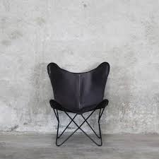 <b>Black</b> leather <b>butterfly chair</b> - One Fine Day
