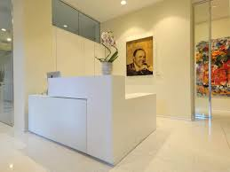 angle reception desk wooden metal glass bridge by alberto stella estel bridge reception counter office line