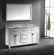 55 inch double sink bathroom vanity: virtu usa caroline x double sink bathroom vanity in white